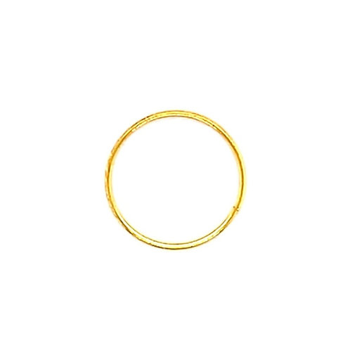 Gold Plated Sterling Silver Plain 8 mm Nose Hoop 134990