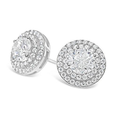 Bitter Sweet Sterling Silver Cubic Zirconia Earrings 131363