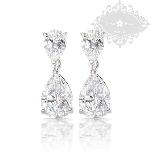 Bitter Sweet Sterling Silver Cubic Zirconia Earrings 121515