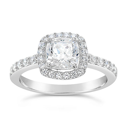 Bitter Sweet Sterling Silver Cubic Zirconia Ring 129257