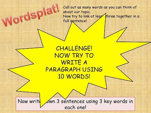Wordsplat - revise key vocabulary