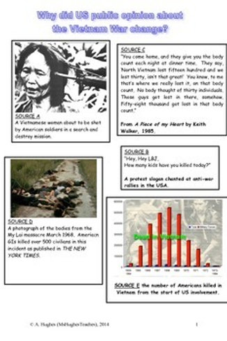 Why did US public opinion turn against the Vietnam War by 1968? DBQ