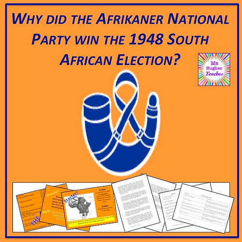 The start of Apartheid in South Africa - the 1948 elections.