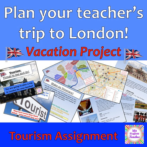 Plan your teacher's vacation to London!