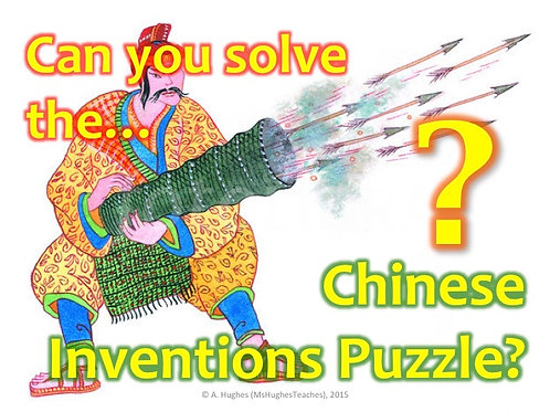 What did the Ancient Chinese Invent? Cryptogram Puzzle