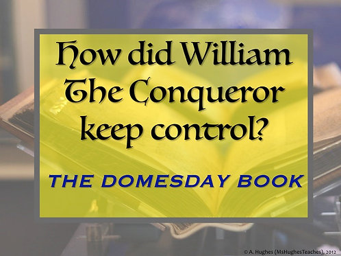 How did King William use the Domesday Book to keep control?