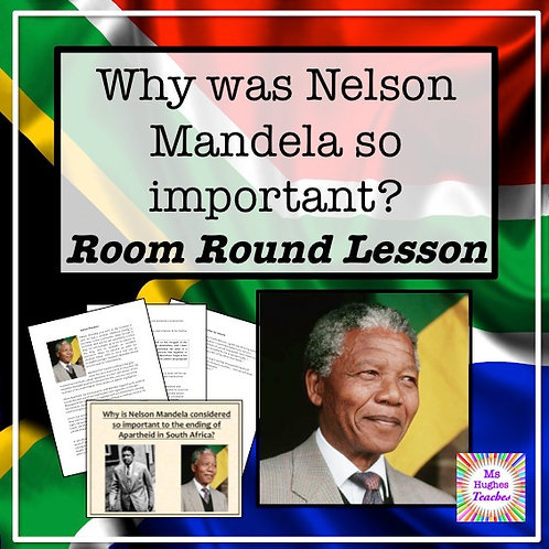 Why was Nelson Mandela so important in South Africa? Worksheet and PowerPoint