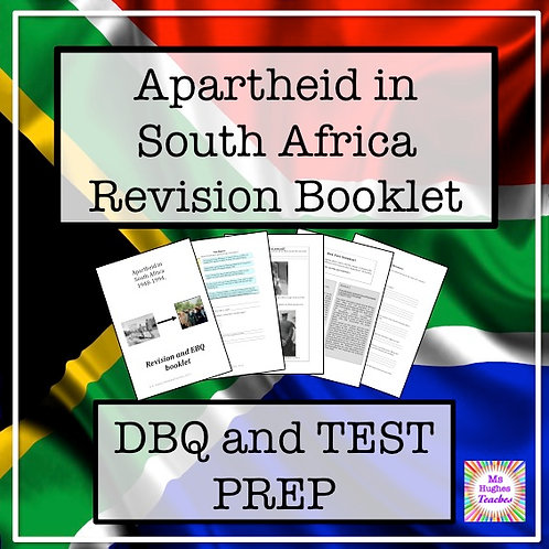 Apartheid in South Africa Revision Booklet - test prep and DBQs