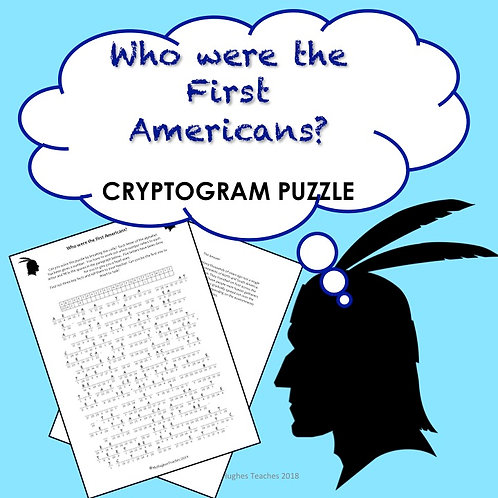 Who were the first Americans? PUZZLE WORKSHEET
