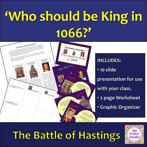 Who should be King in 1066? (Before the Battle of Hastings)