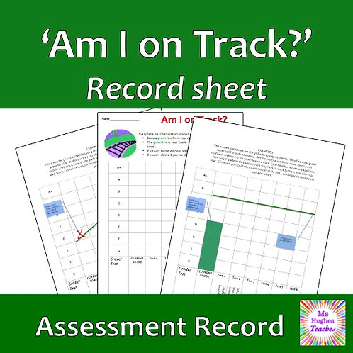 Am I on track? Self assessment grade graph