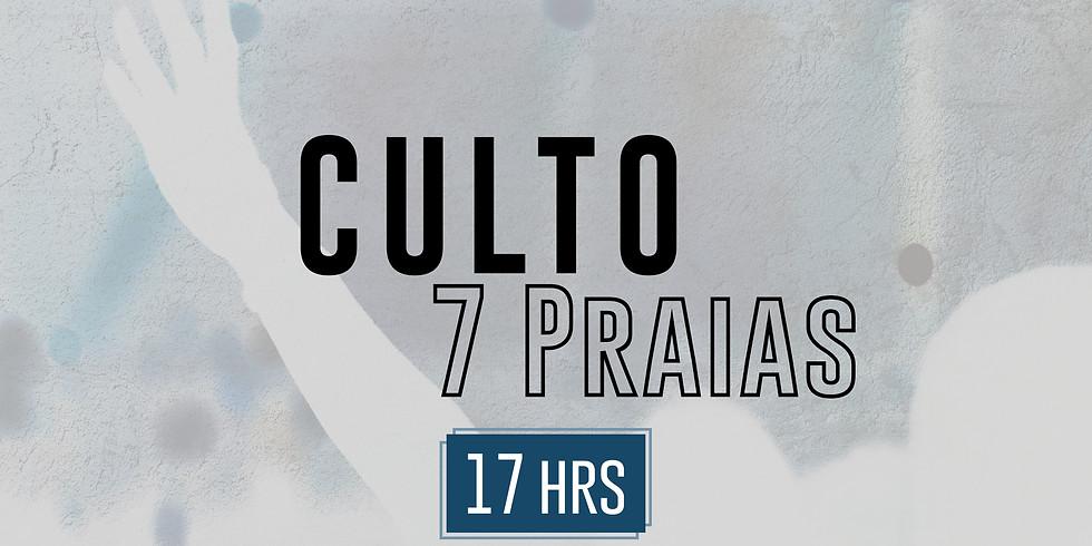 7 PRAIAS (culto presencial) 25/Outubro 17:00