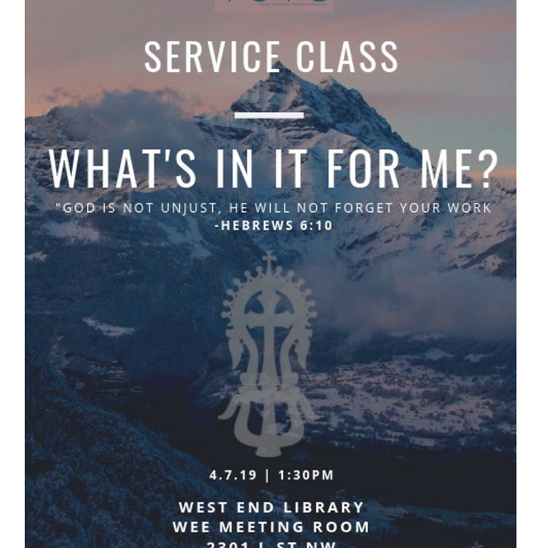 Service Class: What's In It For Me?