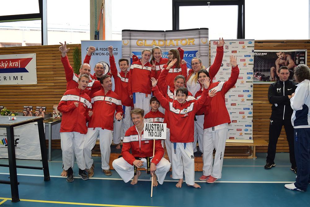 Team Österreich, gut gelaunt & gut motiviert !