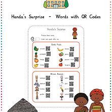 Handa's Surprise - Words with QR Codes b