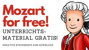 NEU und KOSTENLOS! Steckbrief zu Wolfgang Amadeus Mozart