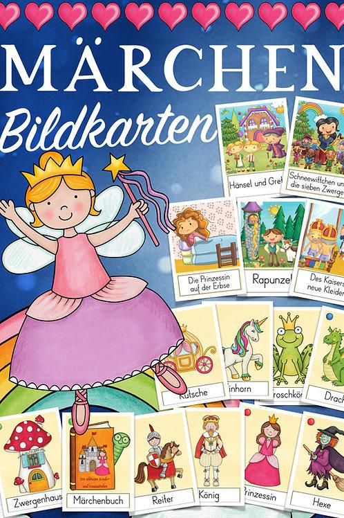 Märchen Bildkarten für den Deutschunterricht in der Grundschule