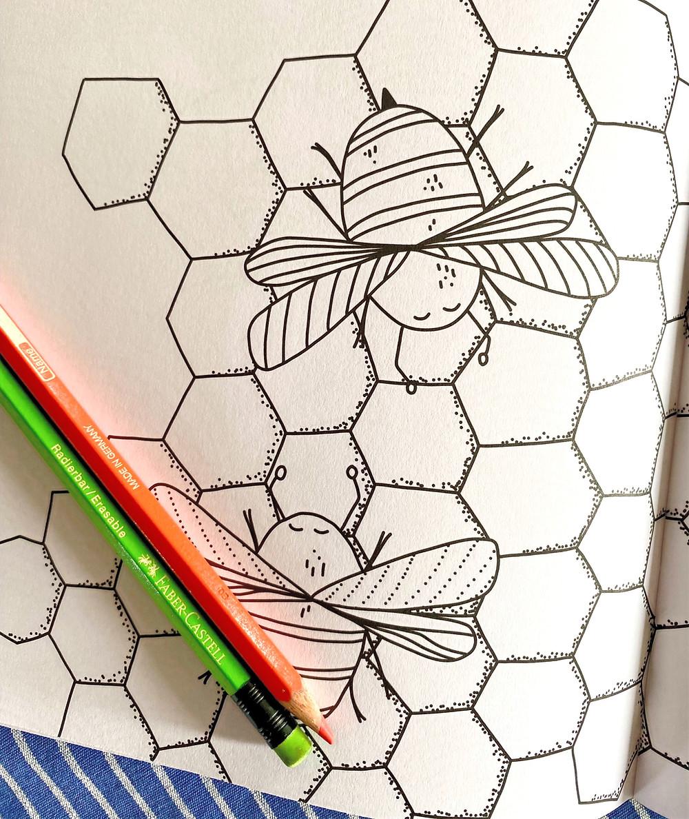 kreatives Malbuch Muster für Kinder Kunst