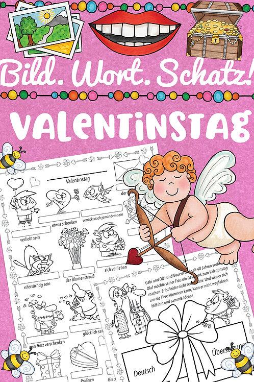 Bildwörterbuch Valentinstag - ideal für den Englischunterricht in der Grundschule