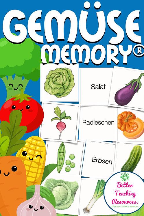 Memory für DAZ / Deutsch in der Grundschule - Gemüse auch für den Sachunterricht