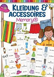 Unterrichtsmaterial: Memory® Kleidungsstücke und Accessoires für den Deutschunterricht in der Grundschule und DAZ mit Kindern