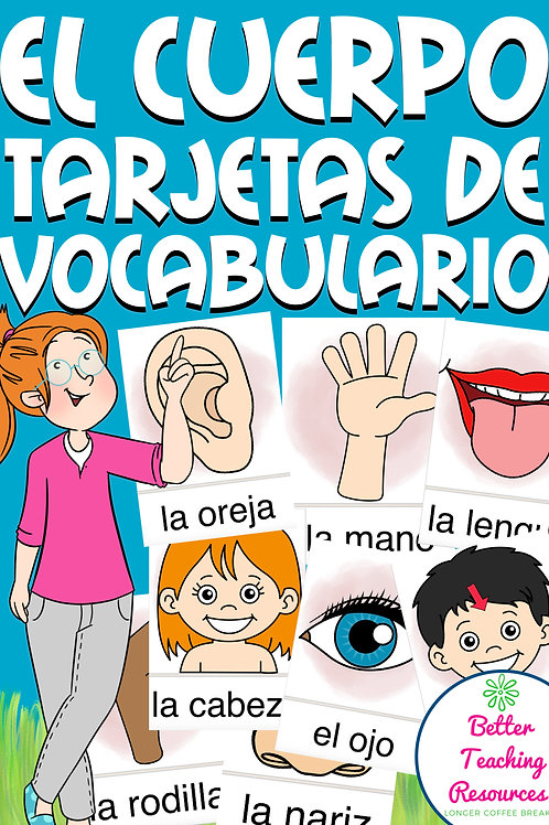 EL CUERPO - Spanisch Bildkarten