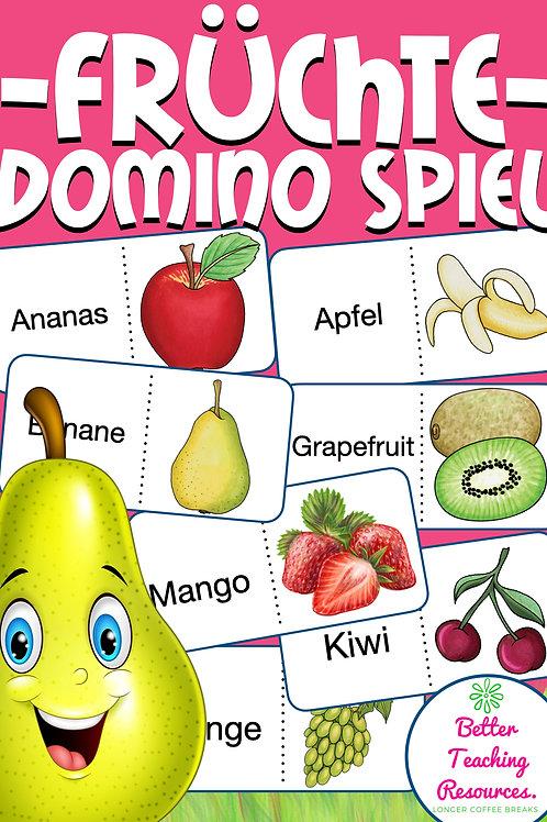 Domino zum Thema Fruits für Englisch in der Grundschule - Spiel für den Wortschatz im Englischunterricht