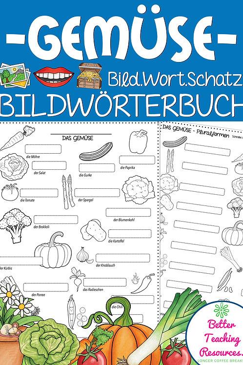 Bildwörterbuch Thema Gemüse - für alle Fremdsprachen in der Grundschule und Sekundarstufe