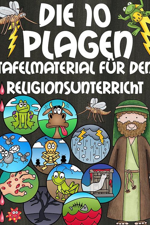 Die zehn biblischen Plagen - Bildkarten für den Religionsunterricht in der Grundschule