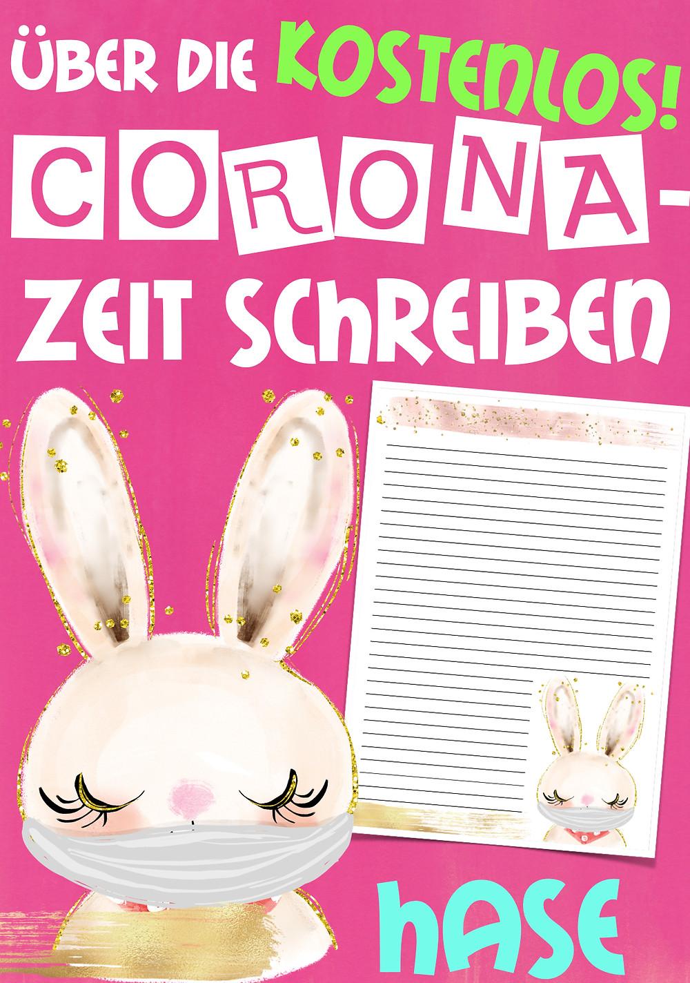 Hase mit Corona Gesichtsmaske Coronavirus Grundschule, Hasenklasse