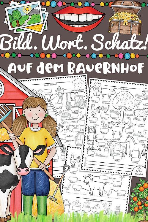 Bildwörterbuch für alle Fremdsprachen - Tiere und Geräte auf dem Bauernhof