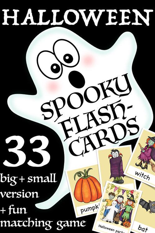 Halloween Bildkarten - Englisch