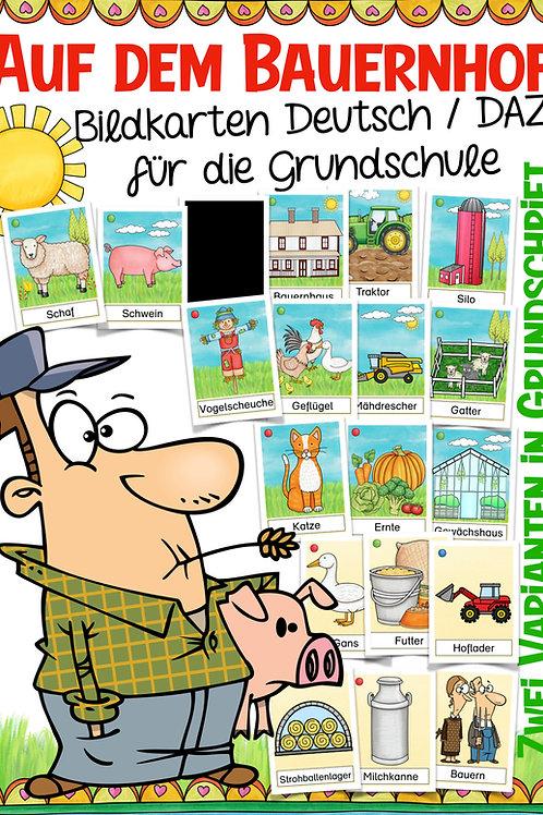 Auf dem Bauernhof - Bildkarten