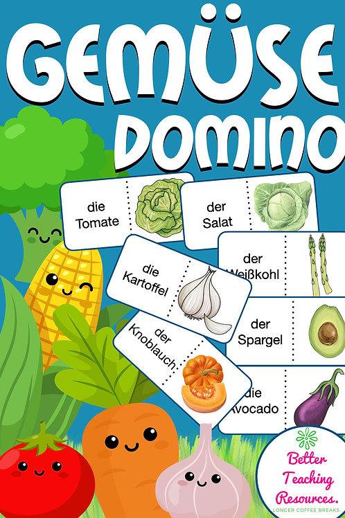 Gemüse Domino Spiel Sachunterricht Deutsch und DAZ in der Grundschule Unterrichtsmaterial