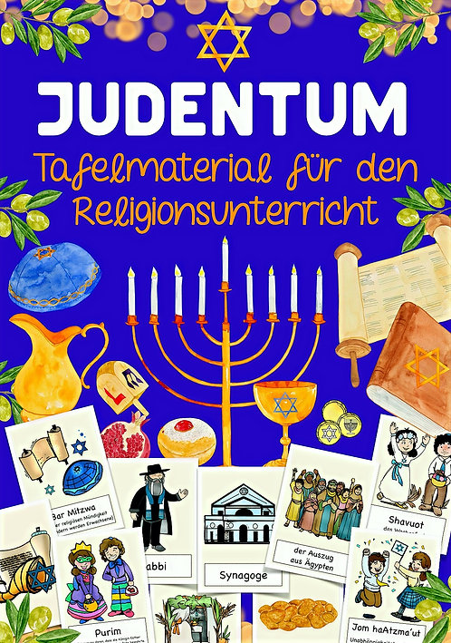 Judentum Bildkarten für den Religionsunterricht in der Grundschule