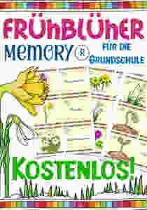 Frühblüher Memory für den Sachunterricht in der Grundschule kostenlos