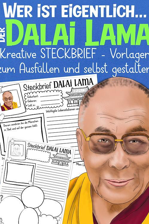 Arbeitsblatt für die Grundschule - Dalai Lama / Buddhismus - ideal für den Religionsunterricht
