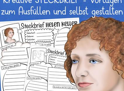Helen Keller - ein kostenloser Steckbrief zu einer bemerkenswerten Persönlichkeit!