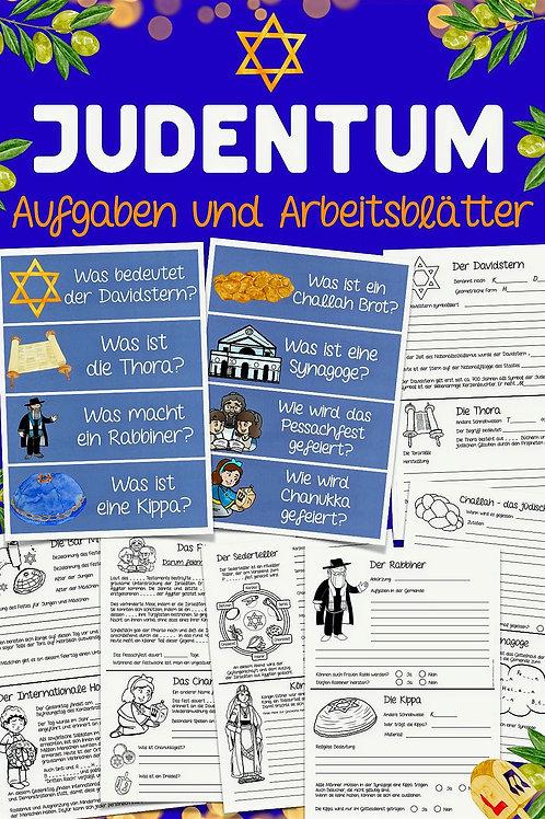 Aufgeben für die Freiarbeit zum Thema Judentum in der Grundschule
