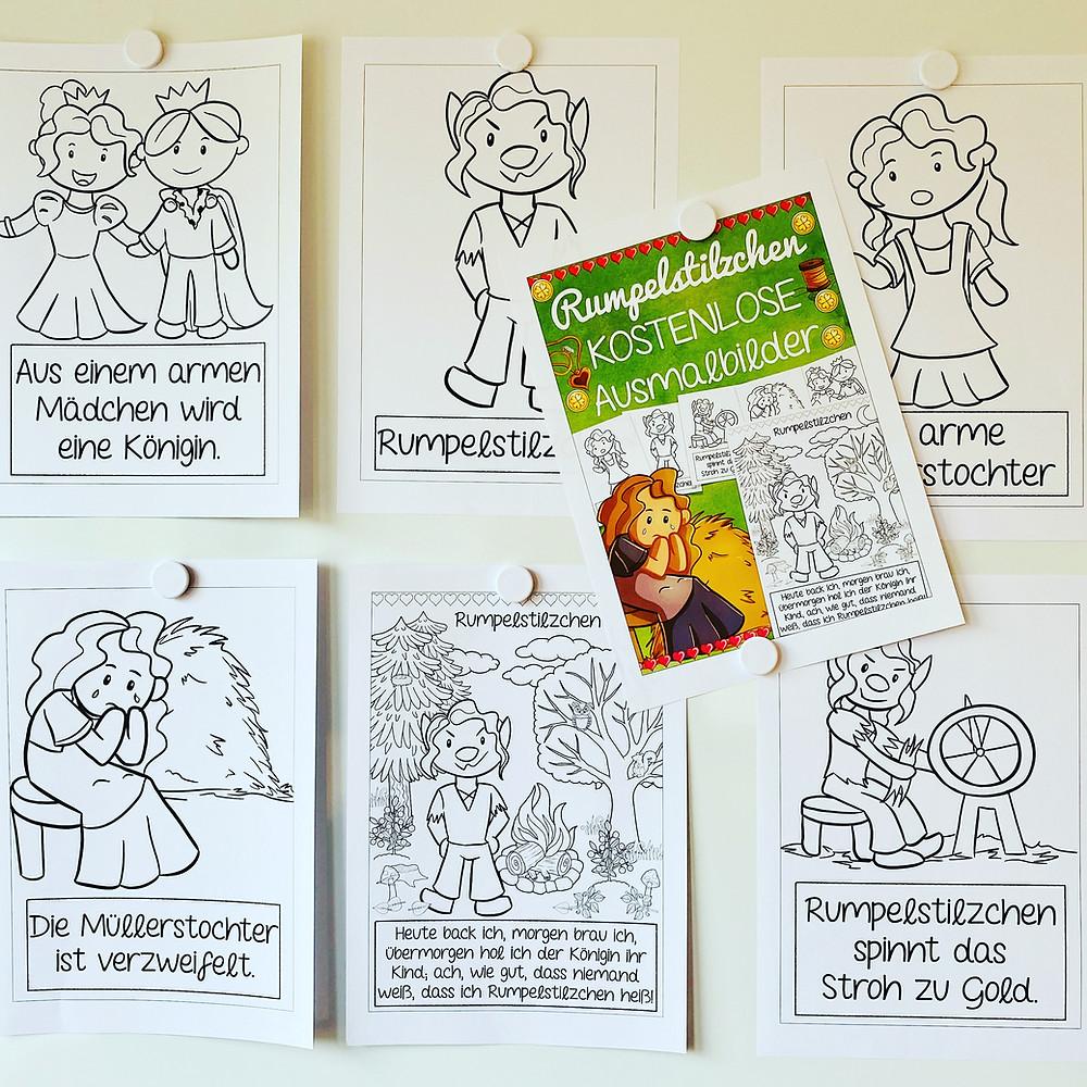 Rumpelstilzchen Ausmalbilder zum Thema Märchen in der Grundschule