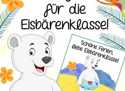 Kostenlose Feriengrüße für die Eisbärenklasse