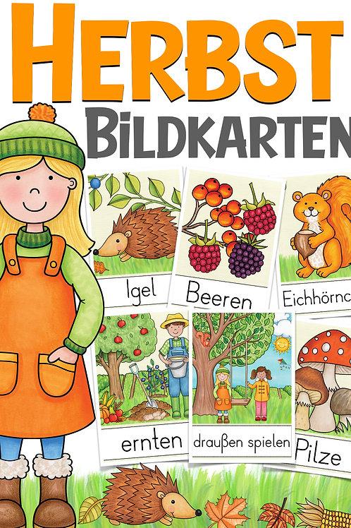 Bildkarten für die Grundschule zum Thema Herbst Deutschunterricht