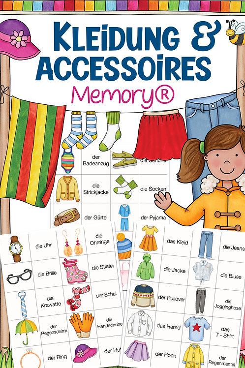 Memory® - Kleidungsstücke - Lesen in der Grundschule Unterrichtsmaterial DAZ / Deutsch