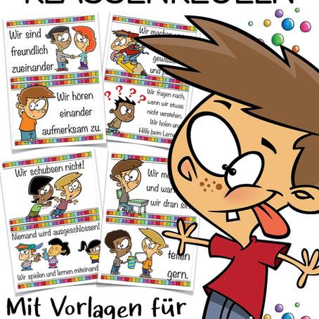 Klassenregeln - witzige Poster für Dein Klassenzimmer!
