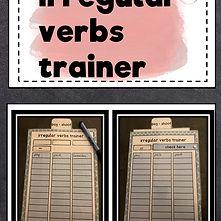 Bastelvorlage kostenlos Irregular Verbs.