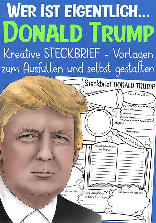 Steckbrief und Arbeitsblatt Donald Trumpf für die Grundschule