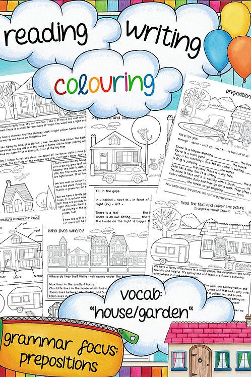 Prepositions - Arbeitsblätterfür den Englischunterricht in der Grundschule