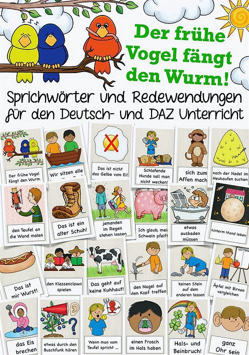 Bildkarten Sprichwörter und Redewendungen