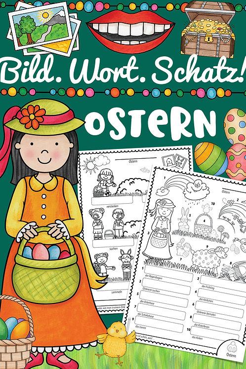 Bildwörterbuch für die Fremdsprachen in der Schule - Thema Ostern - für Englisch, Französisch und Sprachen Grundschule