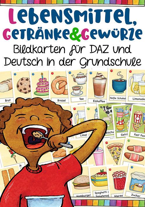 Bildkarten Thema Ernährung / Seen und Trinken - ideal für die Grundschule